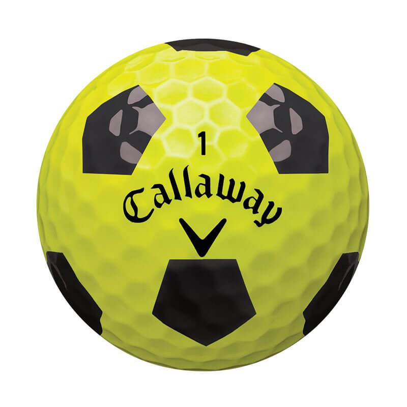 Callaway Chrome Soft Truvis Golf Ball Yellow Soccer Ball