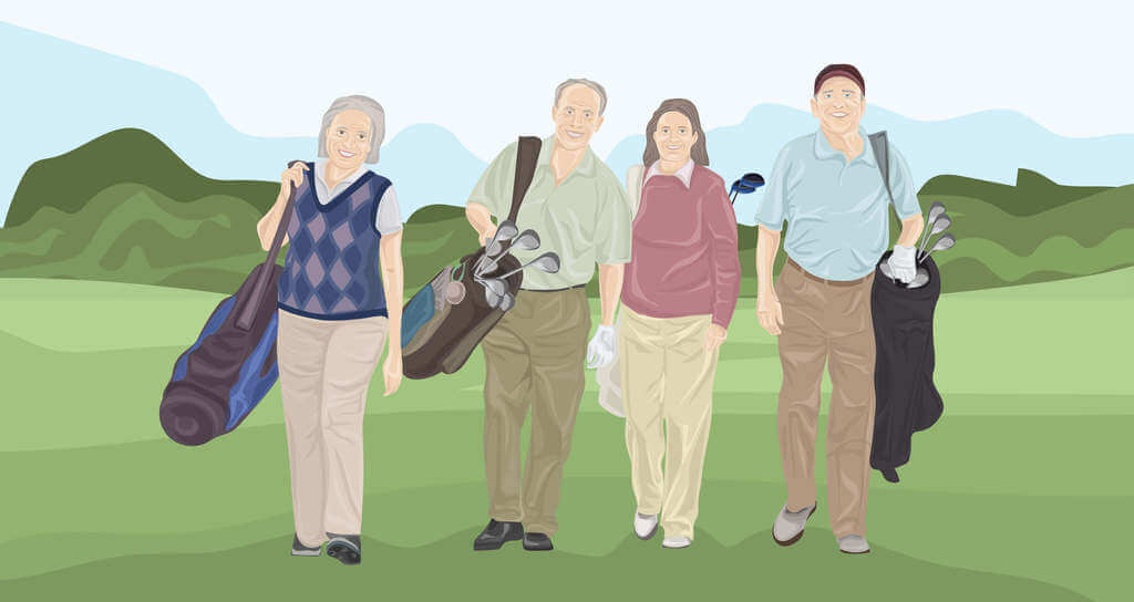 simple golf swing for seniors