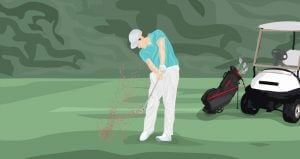 Keep chest over the ball golf