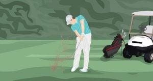Keep chest over the ball golf