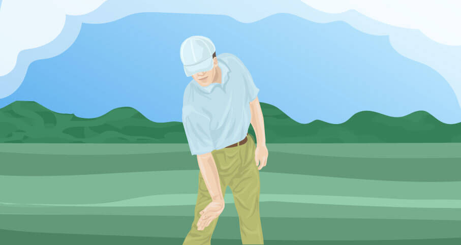 what does it mean to cover the golf ball
