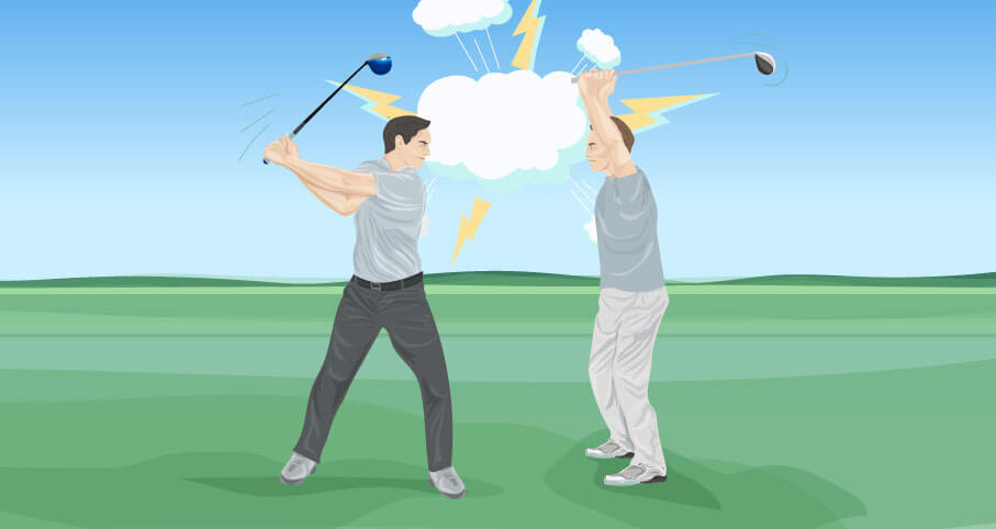 Get Rid Of Tension In The Golf Swing The Left Rough