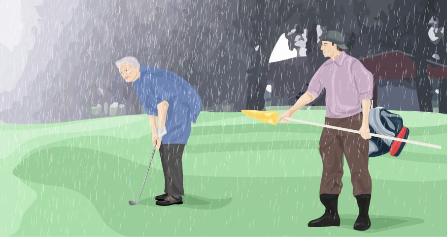 How to Play Golf in the Rain Tips