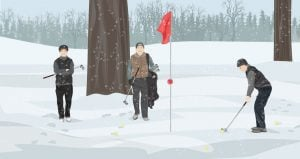 what to wear golfing in cold weather