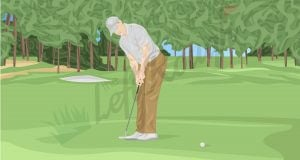 How to put Top Spin on Putts