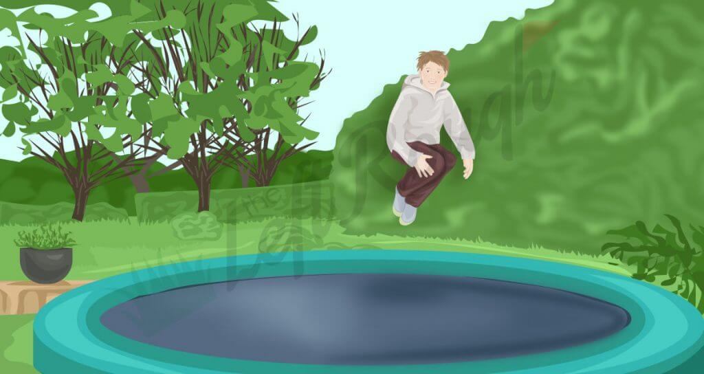 Trampoline to Demonstrate How to use the ground in golf