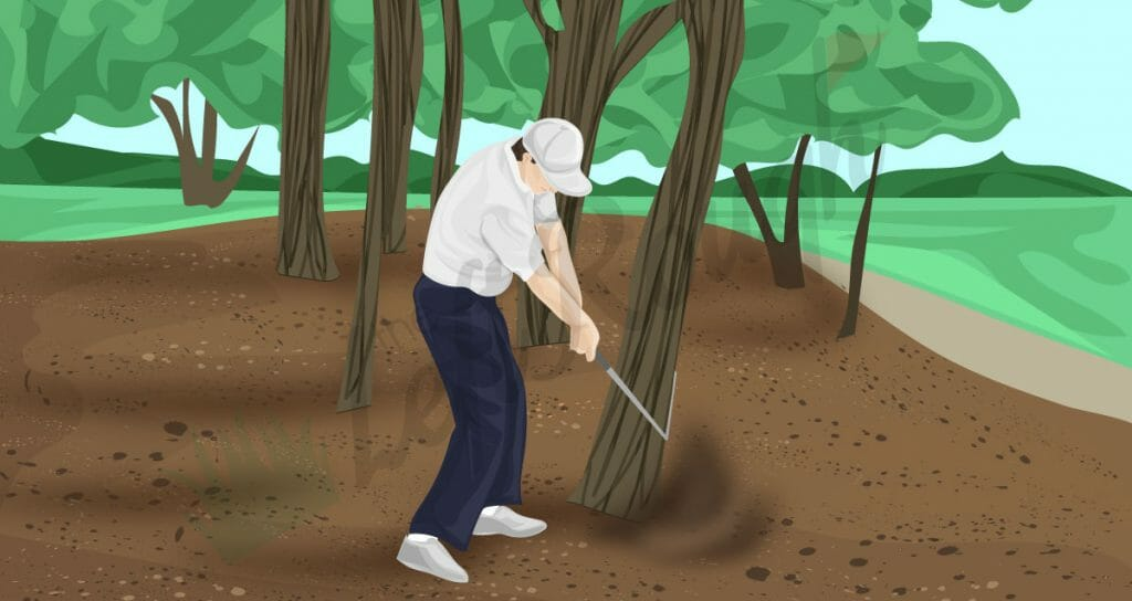 How to Hit a Golf Ball in the Woods