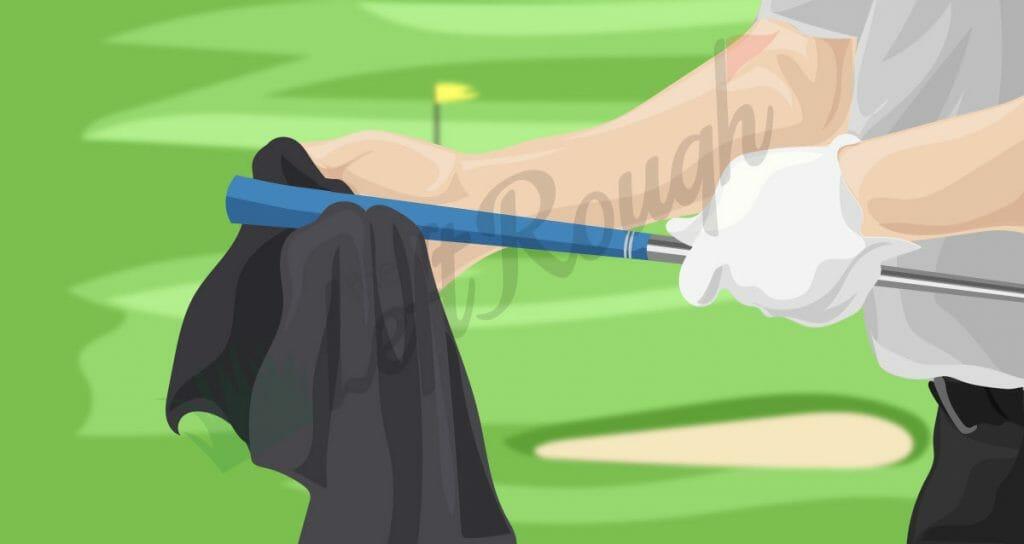 Clean Golf Grips