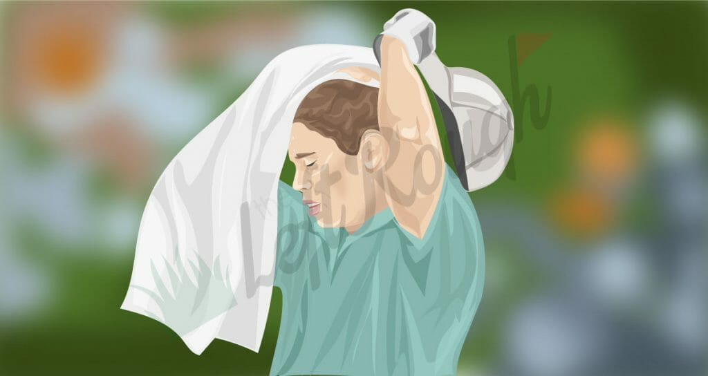 Dealing with Sweat During Golf