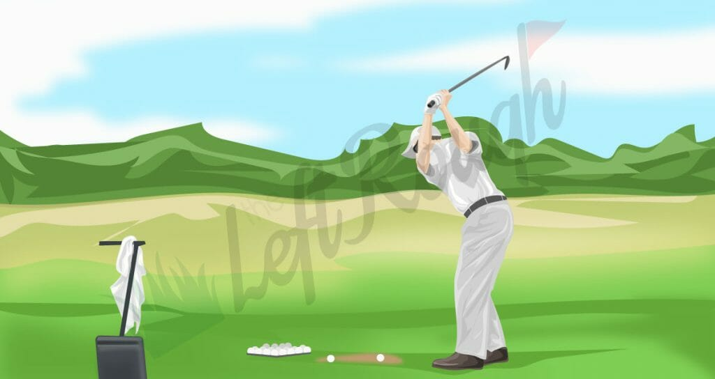 Left Handed Golf Swing