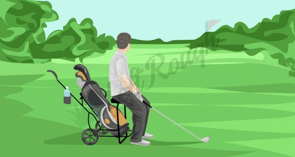 Golf Push Cart with Seat