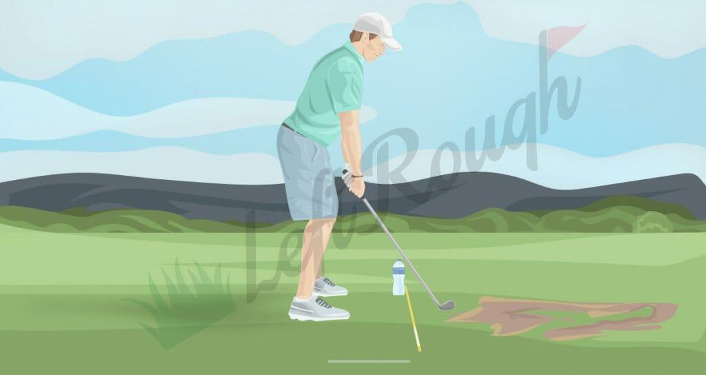 Water Bottle Golf Drill