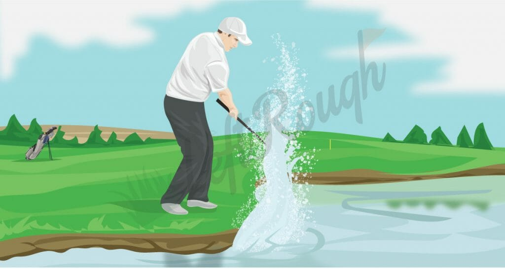 Hitting a Golf Ball in Water