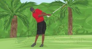 Tiger Woods Stinger Shot